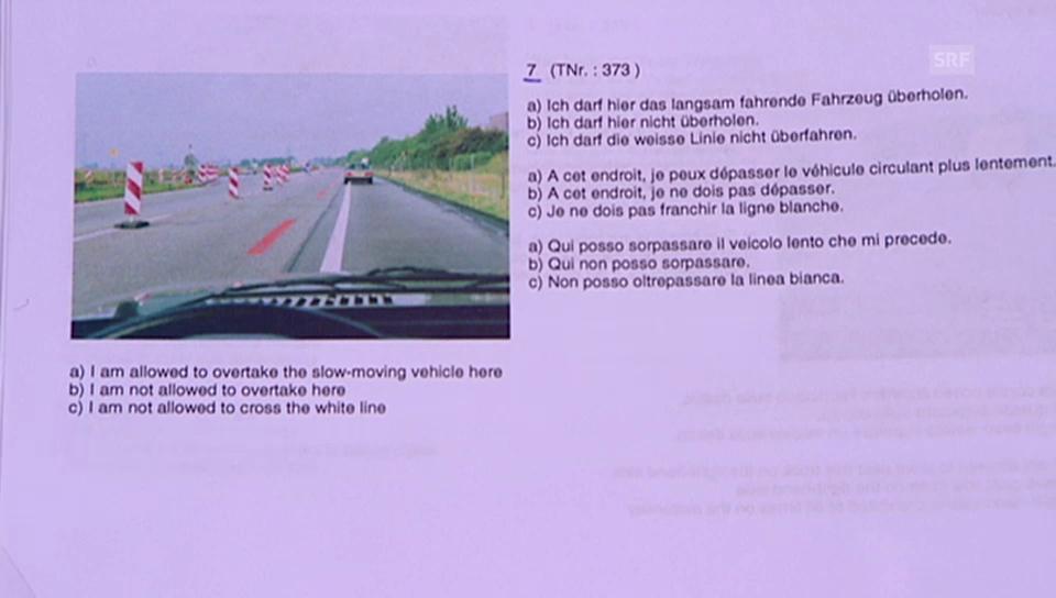 Promis in der «g&g»-Verkehrskunde: Frage 1