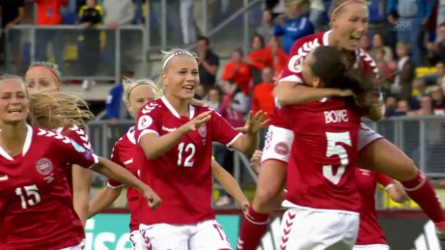 Video «Dänemark bezwingt zähes Österreich erst im Penaltyschiessen» abspielen