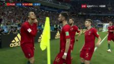 Link öffnet eine Lightbox. Video Ronaldos «Goat-Jubel» gegen Spanien abspielen