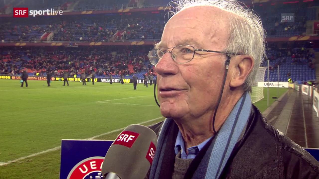 Fussball: Helmut Benthaus zum 200. Europacup-Auftritt des FC Basel («sportlive», 27.2.2014)