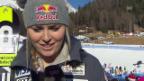 Video «Lindsey Vonn über das zweite Cortina-Training» abspielen
