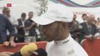 Video «Hamilton rast im 200. Rennen zum Sieg» abspielen