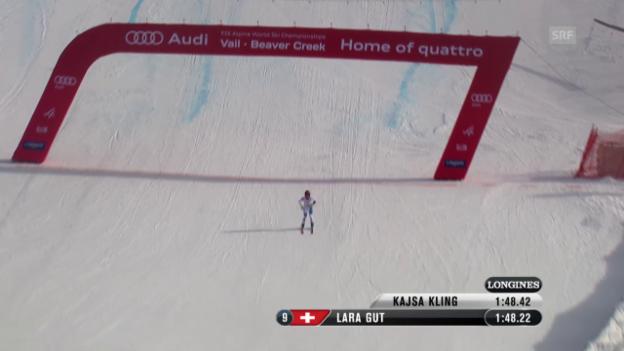 Video «Ski: Trainingsfahrt von Lara Gut» abspielen