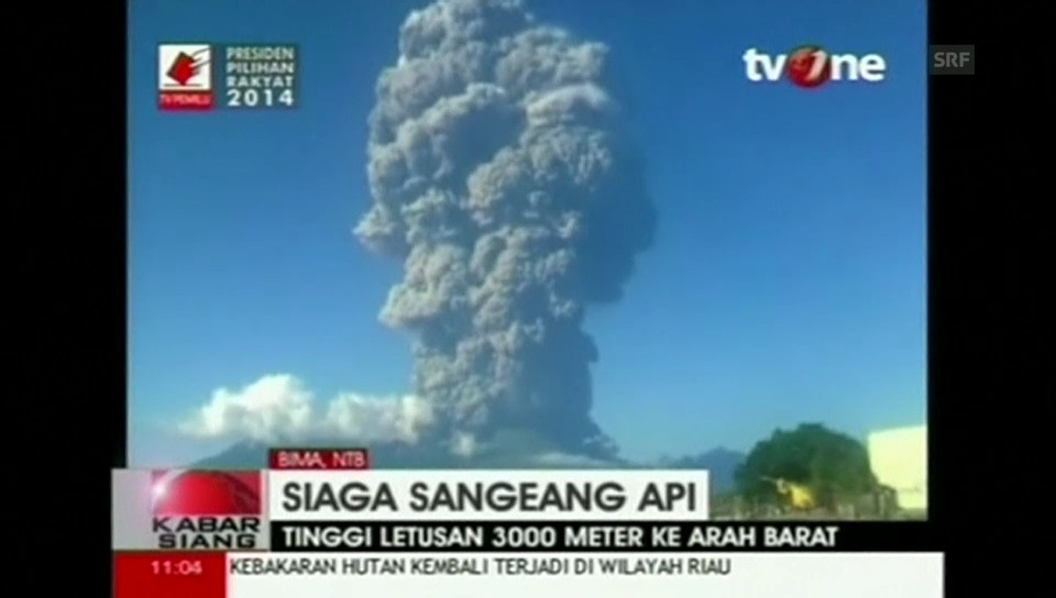 Gewaltige Aschewolke des Sangeang Api (Originalkommentar)