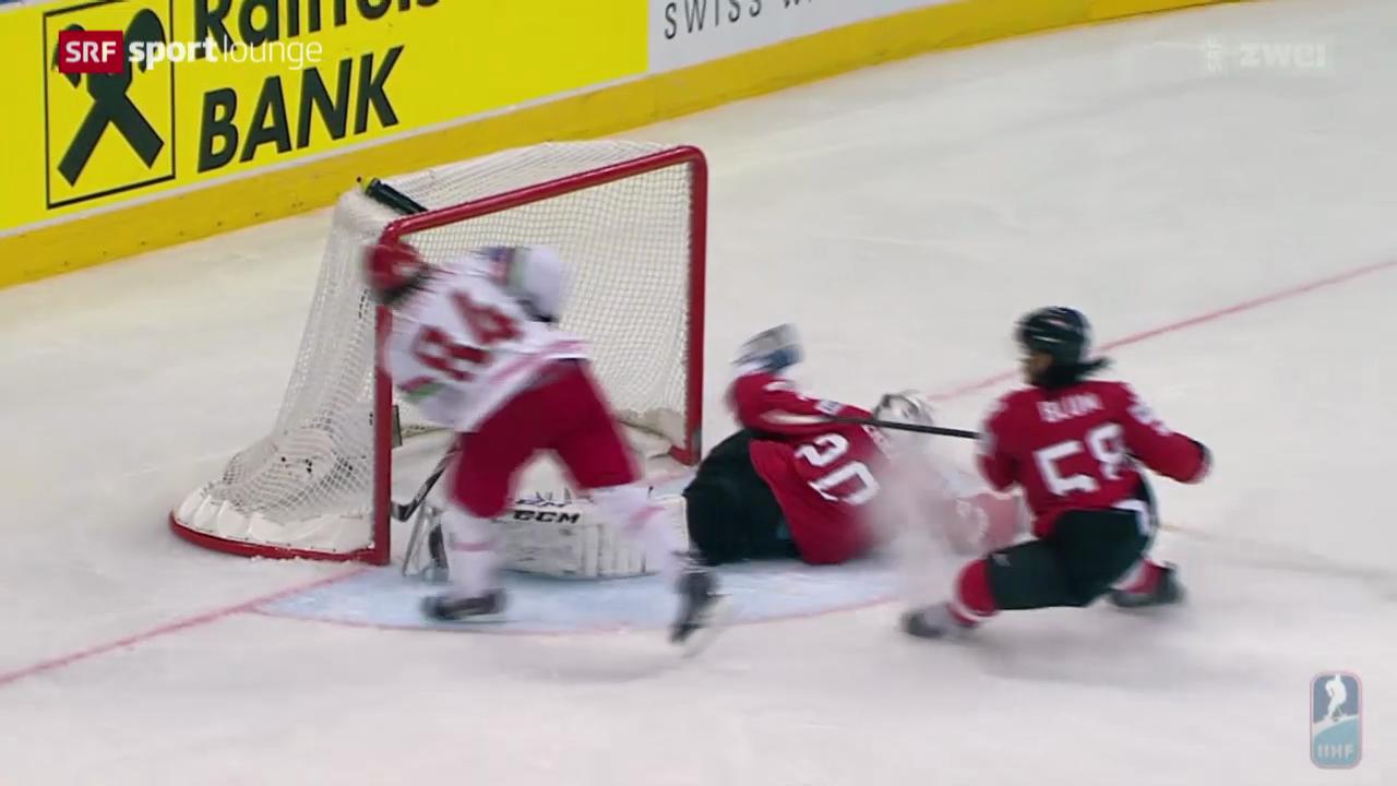 Wie sich die Schweiz an der Hockey-WM gegen den Gastgeber schlägt