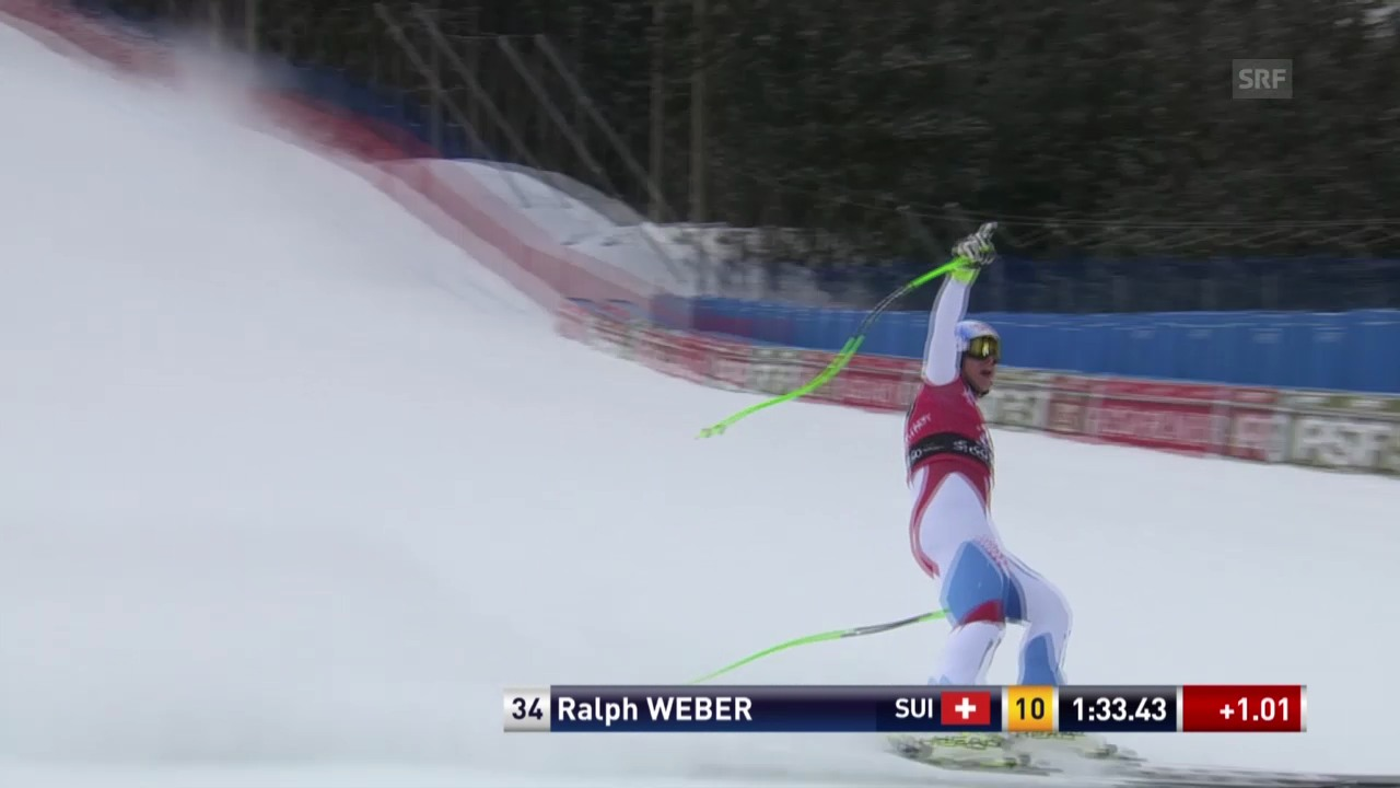 Ski: Abfahrt Männer Santa Caterina, Fahrt von Ralph Weber