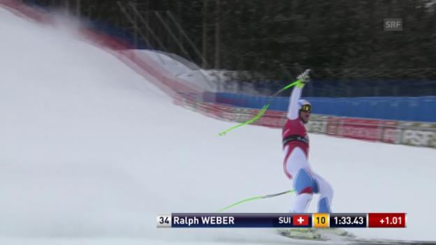 Video «Ski: Abfahrt Männer Santa Caterina, Fahrt von Ralph Weber» abspielen