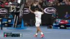 Video «Federer stürmt in den Melbourne-Halbfinal» abspielen
