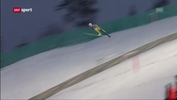 Video «Skifliegen: Zweites Springen in Vikersund («sportaktuell»)» abspielen