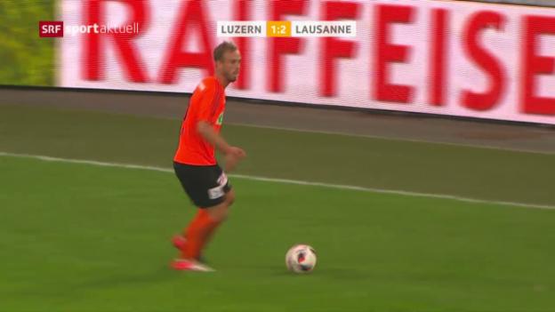 Video «Lausanne reist mit 3 Punkten aus Luzern ab» abspielen