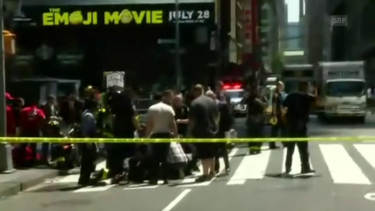 Auto rast in Menschenmenge in New York