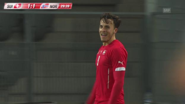 Video «Fussball: U21-EURO-Quali, Schweiz - Norwegen» abspielen
