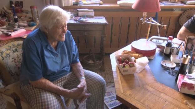 Video ««Töfflibuebe»: Hoher Besuch für Ruth Guler» abspielen