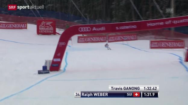 Video «Ski: Weltcup, Abfahrt Männer in Santa Caterina» abspielen