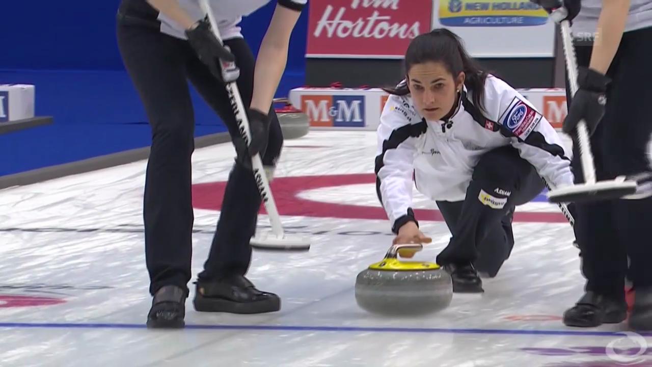 Curling WM: Entscheidung bei Schweiz-Kanada (22.03.)
