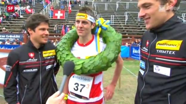Video «OL-EM in Falun: Staffel Männer» abspielen