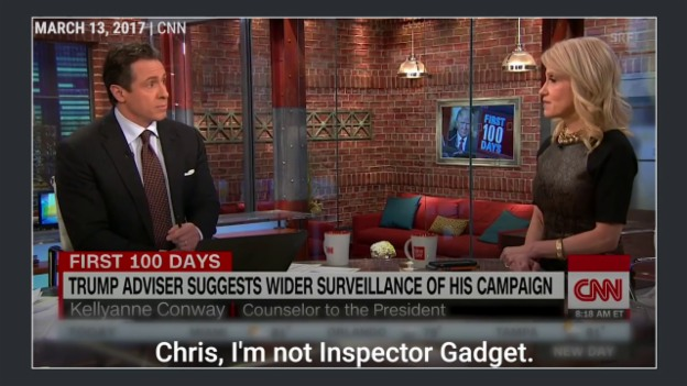 Video «Conway dementiert Mikrowellen-Spionageaussage (Quelle youtube: Business Insider)» abspielen