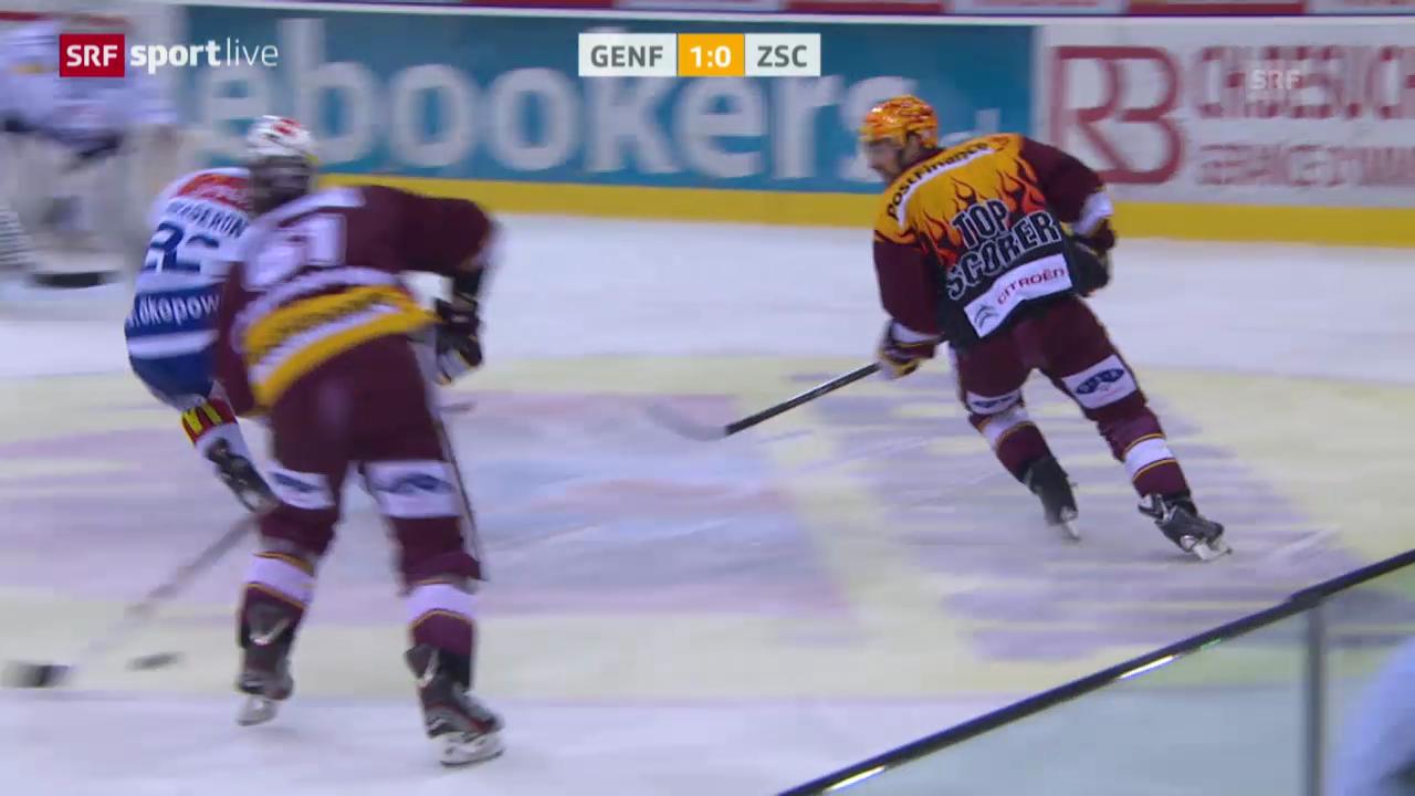 Eishockey: Playoffs, Genf-ZSC Lions, Tor Kaspars Daugavins