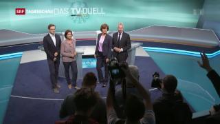 Video «Erstes und einziges TV-Duell zwischen Kanzlerkandidaten» abspielen