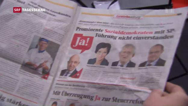 Video «SP-Ständeräte wehren sich gegen Abstimmungszeitung» abspielen