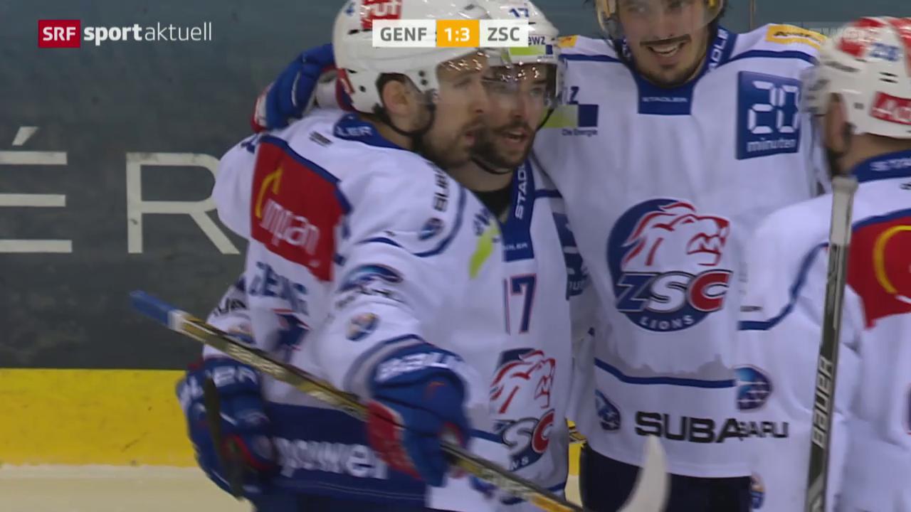 Eishockey: Playoff-Halbfinal, Genf - ZSC Lions