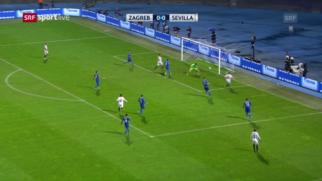Sevilla feiert knappen Sieg in Zagreb