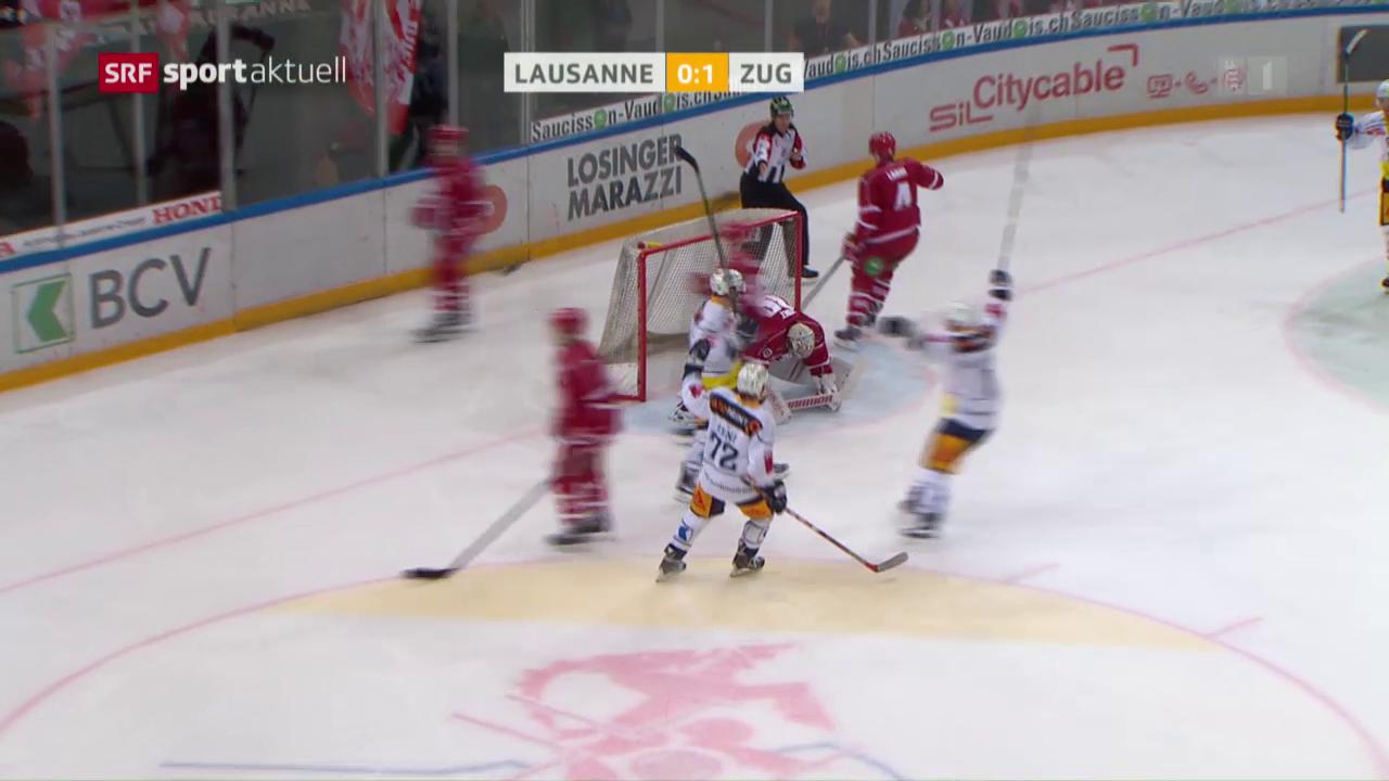 Eishockey: NLA, Lausanne - Zug