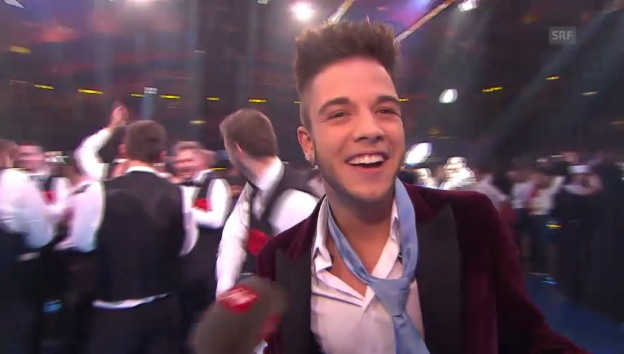 Video «Grosser Jubel bei Luca Hänni» abspielen