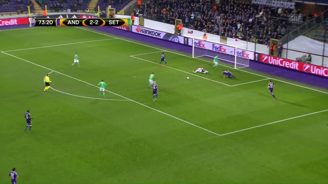 St. Etienne dreht Partie gegen Anderlecht