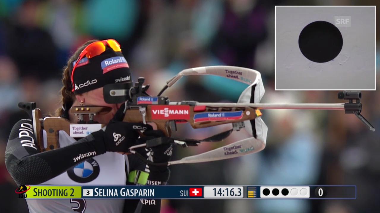 Biathlon: Weltcup der Frauen in Kontiolahti, Das Rennen von Selina Gasparin («sportlive», 15.03.2014)