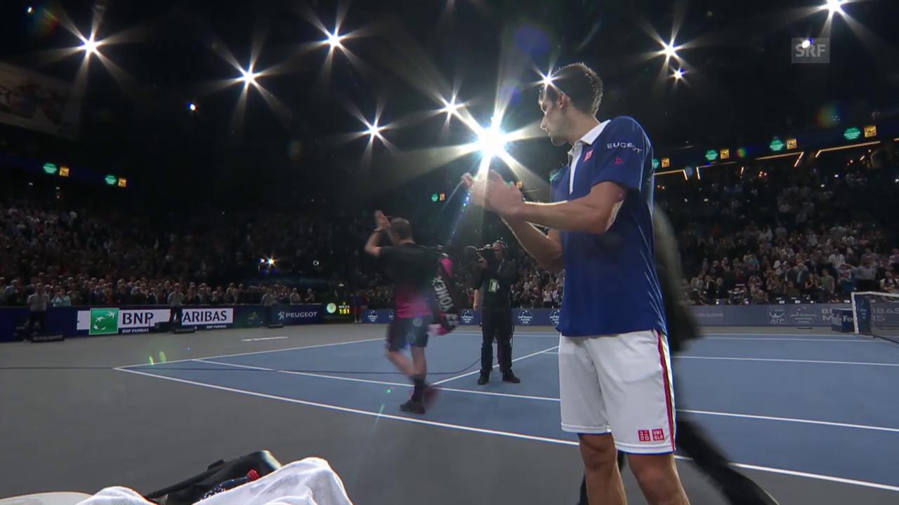 Tennis: ATP Paris, Djokovic applaudiert Wawrinka