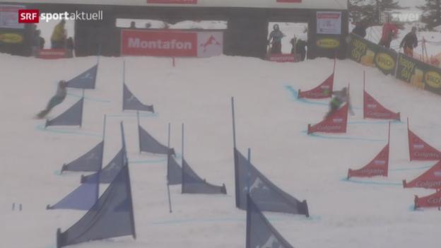 Video «Snowboard alpin: Parallelslalom in Schruns» abspielen