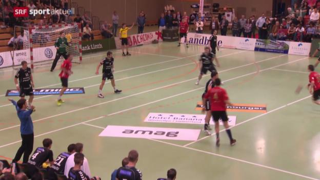 Video «Handball: Pfadi Winterthur zurück an der Spitze» abspielen