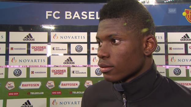 Video «Fussball: Super League, Basel - Sion, Breel Embolo im Interview» abspielen
