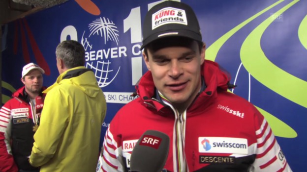 Video «Ski alpin: WM 2015 in Vail/Beaver Creek, SIntervie mit Abfahrtssieger Patrick Küng» abspielen
