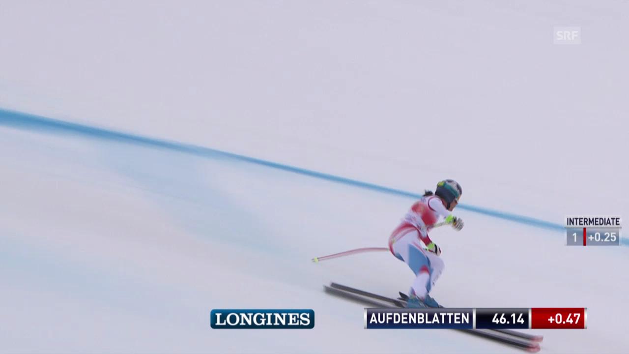Ski: Weltcup, Abfahrt Crans-Montana, Fahrt von Aufdenblatten