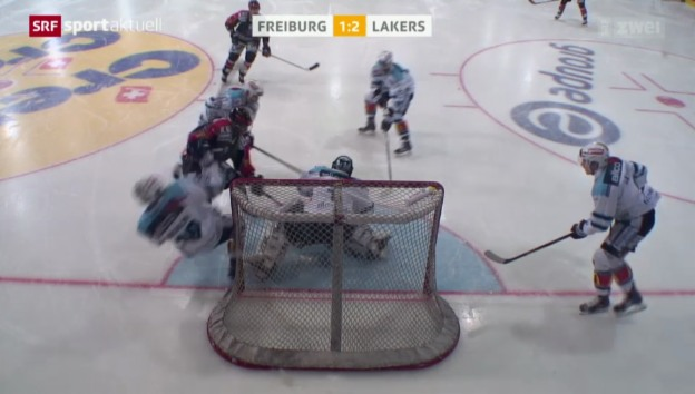 Video «Eishockey: Jeff Tambellinis letzter Treffer für Freiburg» abspielen
