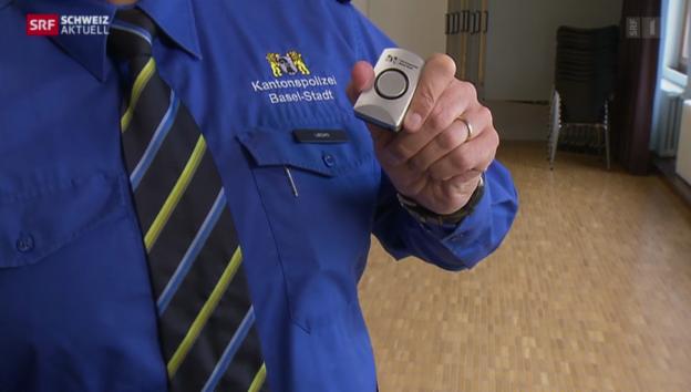 Video «Schrillalarme sollen Basler vor Übergriffen schützen» abspielen