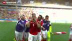 Video «Die Schweizer Fussball-Nati am Tag nach dem Auftaktsieg» abspielen