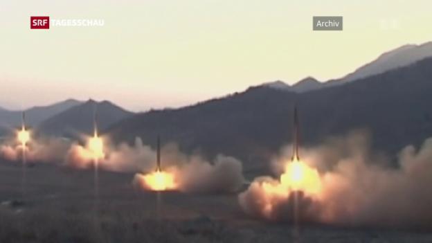 Video «Misslungener Raketenabschuss» abspielen