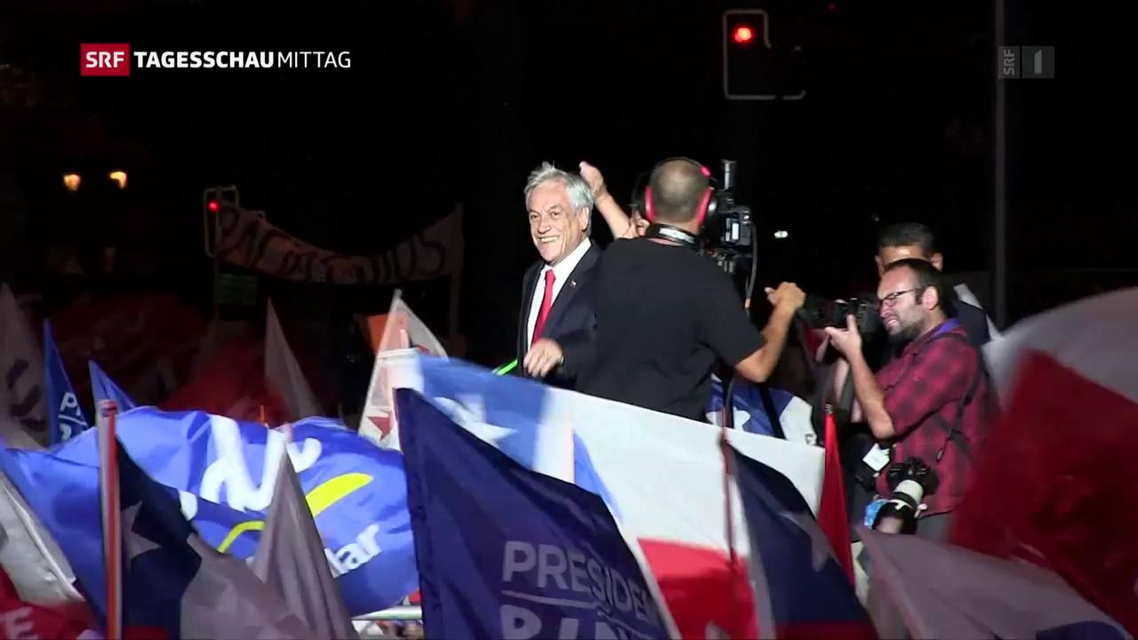 Milliardär Pinera gewinnt Präsidentenwahl in Chile deutlich