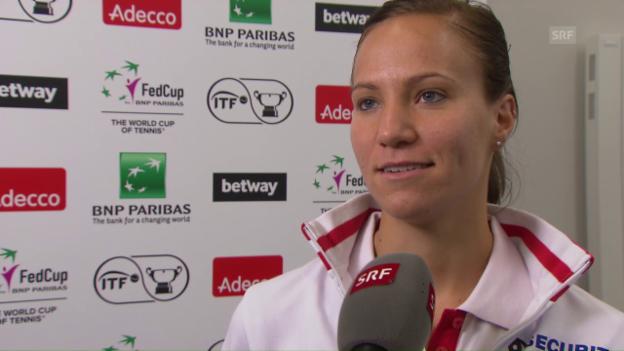 Video «Interview mit Viktorija Golubic vor dem Fed-Cup-Halbfinal» abspielen