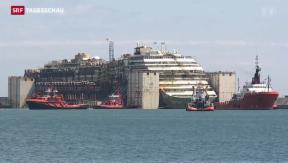 Video ««Costa Concordia» in Genua angekommen» abspielen