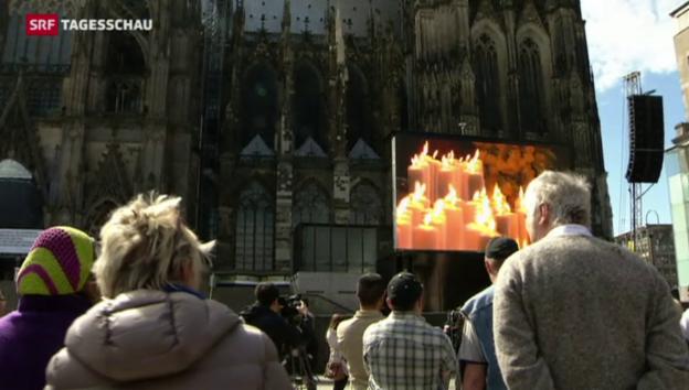 Video «Trauergottesdienst für Opfer von Germanwings-Absturz» abspielen