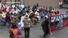 Video «Proteste vor Eröffnung des Klimagipfels» abspielen
