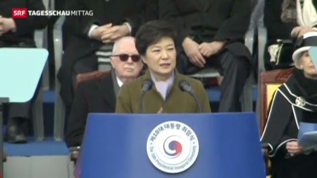 Video «Neue Präsidentin in Südkorea vereidigt» abspielen