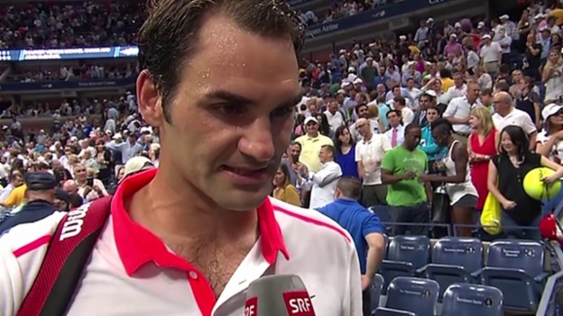 Video «Tennis, US Open: Interview mit Roger Federer» abspielen