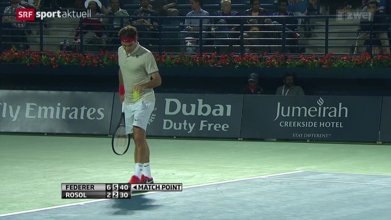 Tennis: ATP Dubai, Federer-Rosol