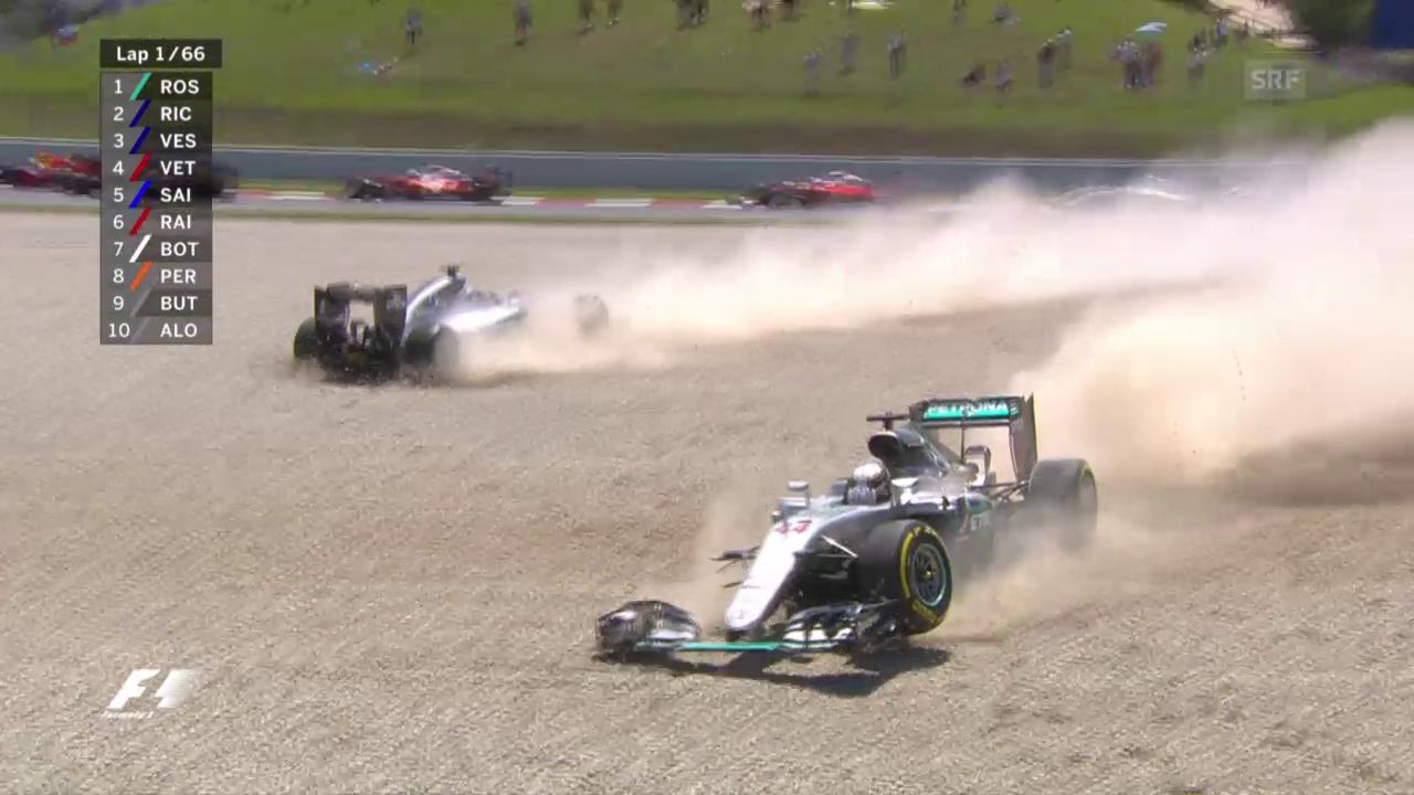 Hamilton und Rosberg schiessen sich gegenseitig ab