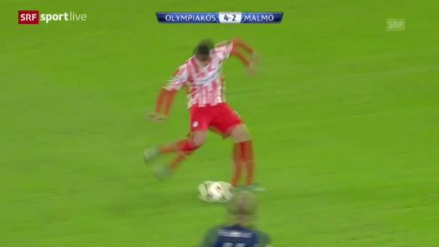 Video «Zusammenfassung Olympiakos - Malmö» abspielen